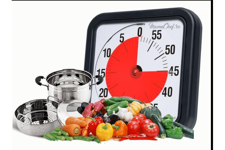 Timpi de gătire la abur al legumelor